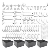 80 Piece Pegboard Hooks Assortment with Pegboard Bins, Peg Locks, for Organ K6S9