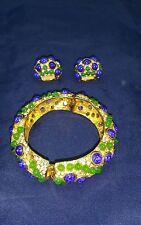 Vintage Kenneth Lane Set  Bracelet w/ Earrings