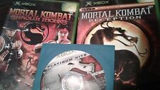 Mortal Kombat Xbox Lot Deception, Deadly Alliance, Shaolin Monks