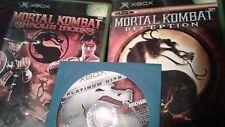 Mortal Kombat Xbox Lot Deception, Deadly Alliance, Shaolin Monks