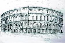 Litografia  ad inchiostro 'ANFITEATRO DI POLA' OMA65