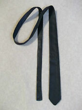 Slim Jim Mod muy Skinny Tie Real Cuero Extreme Azul Marino 60S 70S 4.5cm Ancho final