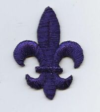 Medium Purple Fleur De Lis/Saints/Religious - Iron on Applique/Embroidered Patch