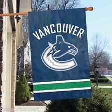 "Vancouver Canucks 44"" x 28"" Applique and Embroidered 2-Sided Flag"