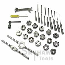 BLUE CASE 40 Pc SAE Tap & Die Set Bolt Screw Extractor/Puller Kit Removal