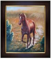 Framed, Horse Dancing, Hand Painted Oil Painting 20x24in
