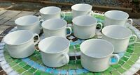 Lot of 10 Vintage Rorstrand Sweden Claire de Lune Coffee/Tea Cups