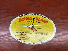 Original Vintage 1960S Bongo Board Balance Surf Skate Training Fitness Ny