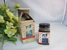 PIB liquid insulation glass jar, bottle with box. Automotive collectible