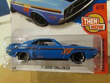 Hot Wheels '71 Dodge Challenger Then and Now Blue