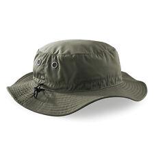 Beechfield BC088 Cargo Bucket Hat Sun Shade Summer OLIVE GREEN One Size UNISEX