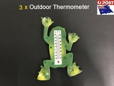3 x Indoor/Outdoor Frog Window Thermometer Monitor Outside Temperature-AU Stock