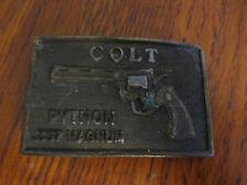 VINTAGE COLT PYTHON .357 MAGNUM BELT BUCKLE MARKED 764 ON BACK