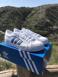 Adidas Nizza Skate White Gray Sneakers Athletic Shoes Mens 7 FW4326
