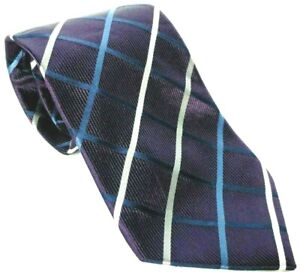 Donald J Trump Signature Collection Men's Necktie 100% Silk Geometric Purple