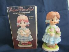 Cma Porcelain Hand Painted Figurine Perfume Flower Girl 1980