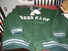 MENS BROOKLYN DODGERS 1937 MITCHELL & NESS WOOL JACKET 5XL 64 GREEN MSRP $450