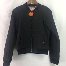 Maison Scotch New Friends Womens Star Quilted Jacket Black Pockets Full Zipper M