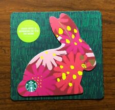 STARBUCKS Gift Card 2019 Die Cut Bunny Rabbit Red Happy Easter Egg No $ Value