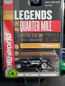 Autoworld  Black Cuda Snake prudhomme Legends Of The Quarter Mile new in cube ho
