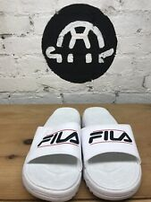 Fila Ladies' Tacombi Slide Sandals - Blue ~ White (Select Size: 6-11)