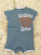 New Juicy Couture Infant Baby Boy Moody Blue Orange Coverall Jumper  3-6M