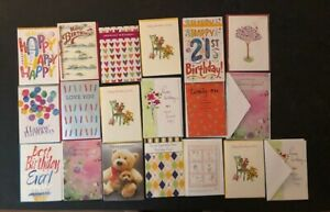 Birthday Cards - Varied Lot (25) - New