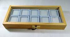 GEMSTONE Diamond Display Storage wooden box Jewelry 10 Plastic Box white color