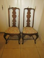 Vintage Queen Anne Style Dining Chairs Set Of Two Wood Shipping not Included