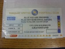 05/05/2008 BIGLIETTO: play-off SEMIFINALE Conferenza-Torquay United V Exeter City