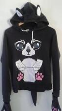 Cat Halloween Costume Hoodie XL Long Sleeve Pullover Sweatshirt with Paws Tail