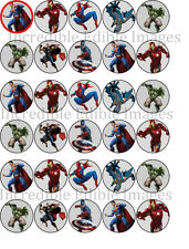 30 Superheroes The Avengers Edible WAFER Cupcake Topper-PRE CUT