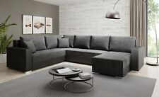 Couchgarnitur Sofa Sofagarnitur STILO U mit Schlaffunktion Wohnlandschaft NEU