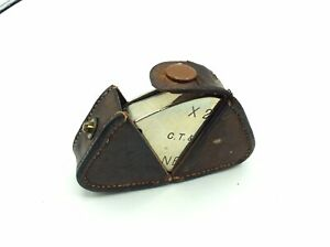 A Antique Jewellers Loupe Glass Eye Lens Magnifier Fob In Original Leather Case
