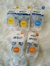 AVENT airflex Philips silicone 10 bottle nipples reduces colic 0 m+, 3m+, 6m+