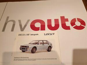 Lancia Delta Integrale Evo 16V 8V Kat Betriebsanleitung deutsch original neu NOS
