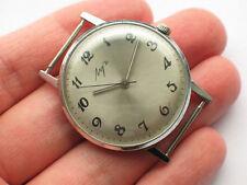 Vintage soviet LUCH dress watch, Ultra-Slim Chromed Case. USSR / CCCP '1980s