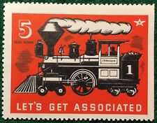 #5 Iron Horse - Let's Get Associated Flying-A Gas & Oil Stamp - Free Ship