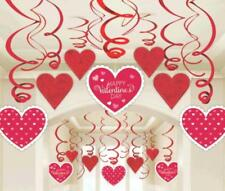 30 Mega Valentines Day Party Red Heart Value Pack Hanging Swirl Decoration