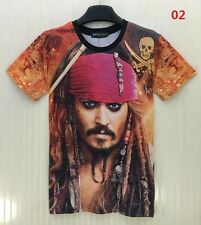 CAPITAN JACK Sparrow maglietta Pirati dei Caraibi Johnny Depp Soft T SHIRT L