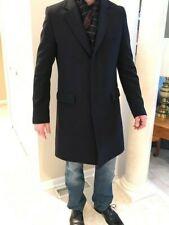Men's Maison Martin Margiela wool blend coat, navy blue, size 40 USA, 50 Europe