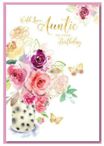 Auntie ~  Birthday Card ~ Just For You By Greetings ~ Free P&P