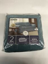 Maytex Stretch Sofa Furniture Cover Fitted Elastic 2pc (Collin)