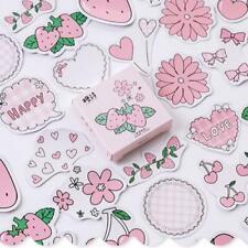 Strawberry Flavor Bullet Journal Mini Box Decorative Washi Stickers Label Diary