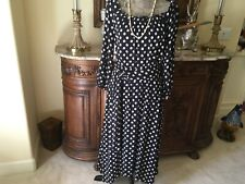 Maeve anthropologie cute black and white polka dot dress NWT 14/16
