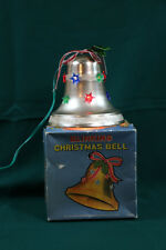 Mid Century Lighted Christmas Bell Decoration Original Box Flashing Bulb