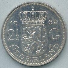 Nederland / Netherlands KM-191 2 1/2 gulden / rijksdaalder 1969 vis / fish VF