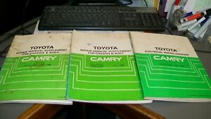 TOYOTA CAMRY WORKSHOP REPAIR MANUALS,1988,HAVE BEEN USED IN WORKSHOP!