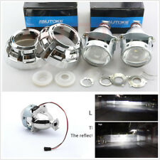 2 X 3'' HID Bi-Xenon Projector Lens+Shrouds For Car Headlight Retrofit H1 H4 H7