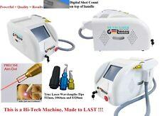 High-Tech German Laser Q-Switch Nd Yag Tattoo removal /Skin Rejuvenation +3 tips